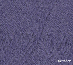 A close up of Teenie Weenie Wool in Lavender