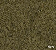 Load image into Gallery viewer, A close up of Teenie Weenie Wool in Olive