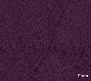 A close up of Teenie Weenie Wool in Plum