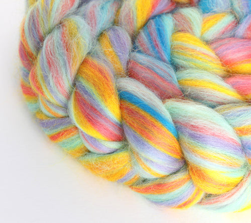 The Fibre Imp Corriedale Wool Roving Braid