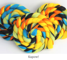 Load image into Gallery viewer, The Fibre Imp Merino Roving Braid in Kapow!