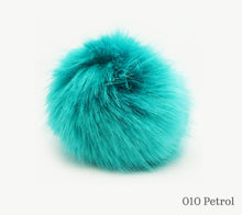 Load image into Gallery viewer, A 10 centimetre Wild Wild Wool Faux Fur Pom-Pom in 010 Petrol