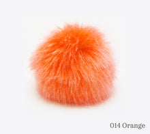 Load image into Gallery viewer, A 10 centimetre Wild Wild Wool Faux Fur Pom-Pom in 014 Orange