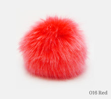 Load image into Gallery viewer, A 10 centimetre Wild Wild Wool Faux Fur Pom-Pom in 016 Red
