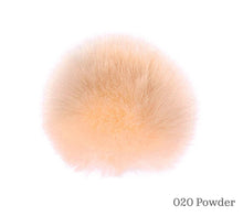 Load image into Gallery viewer, A 10 centimetre Wild Wild Wool Faux Fur Pom-Pom in 020 Powder