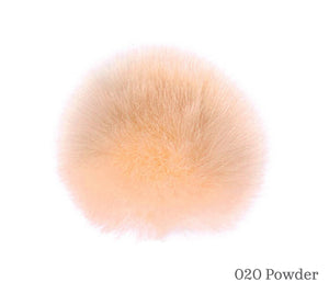 A 10 centimetre Wild Wild Wool Faux Fur Pom-Pom in 020 Powder
