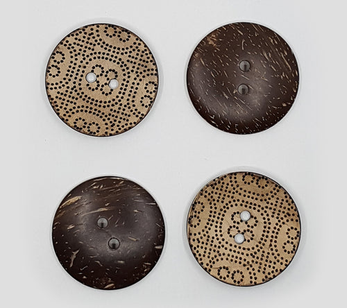 Wooden Dot Print Buttons