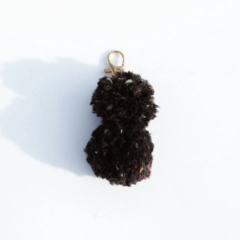 Mini Double Pom Pom Keychain