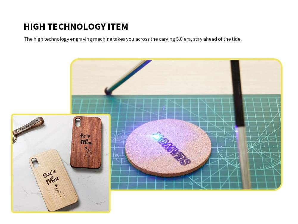 Portable Mini CNC Laser Engraving Machine Wood Router 1600mW