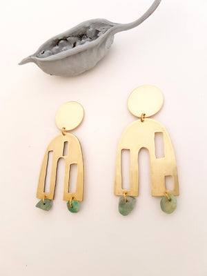 KSOUR TURQUOISE STATEMENT EARRINGS