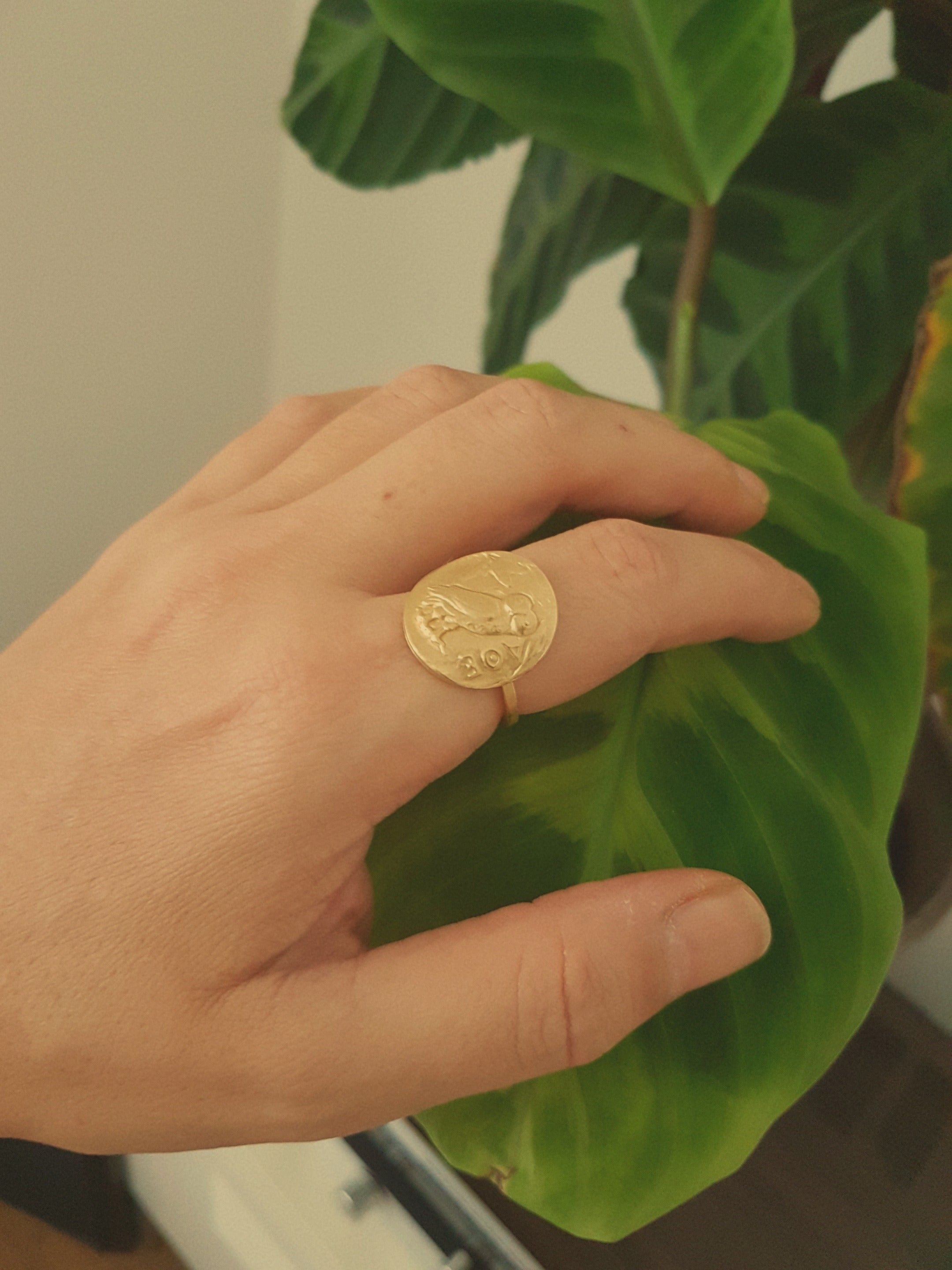 ANCIENT GREEK COIN RING