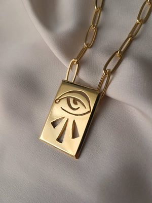 THIRD EYE STATEMENT NECKLACE