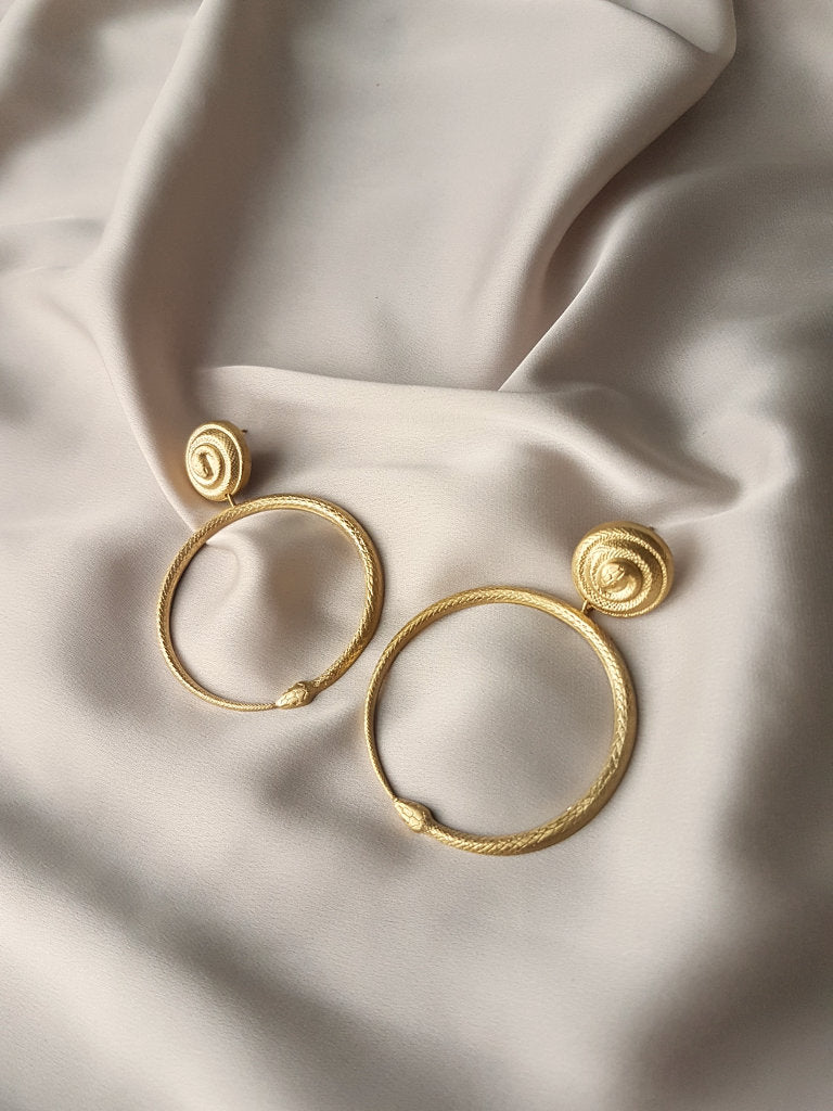 JEZABEL SNAKES HOOP EARRINGS