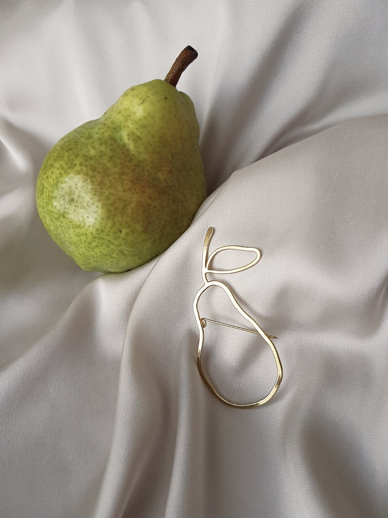 IF LIFE GIVES YOU PEARS BROOCHE