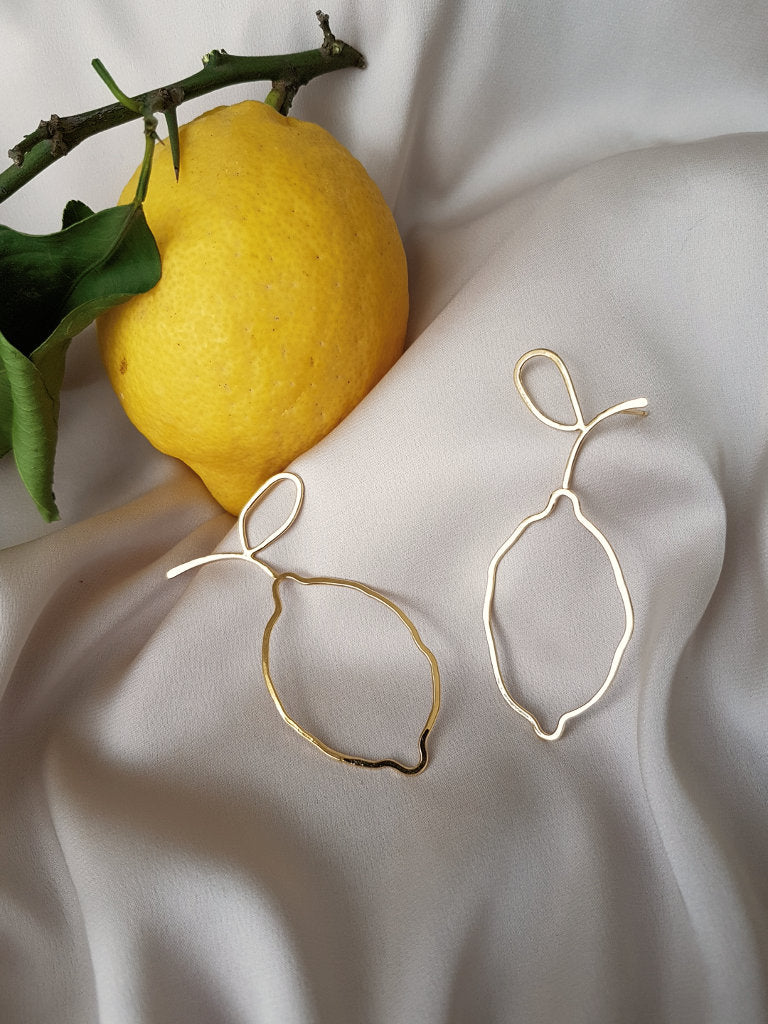 IF LIFE GIVES YOU LEMONS EARRINGS