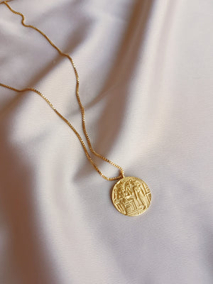 EGYPTIAN COIN NECKLACE