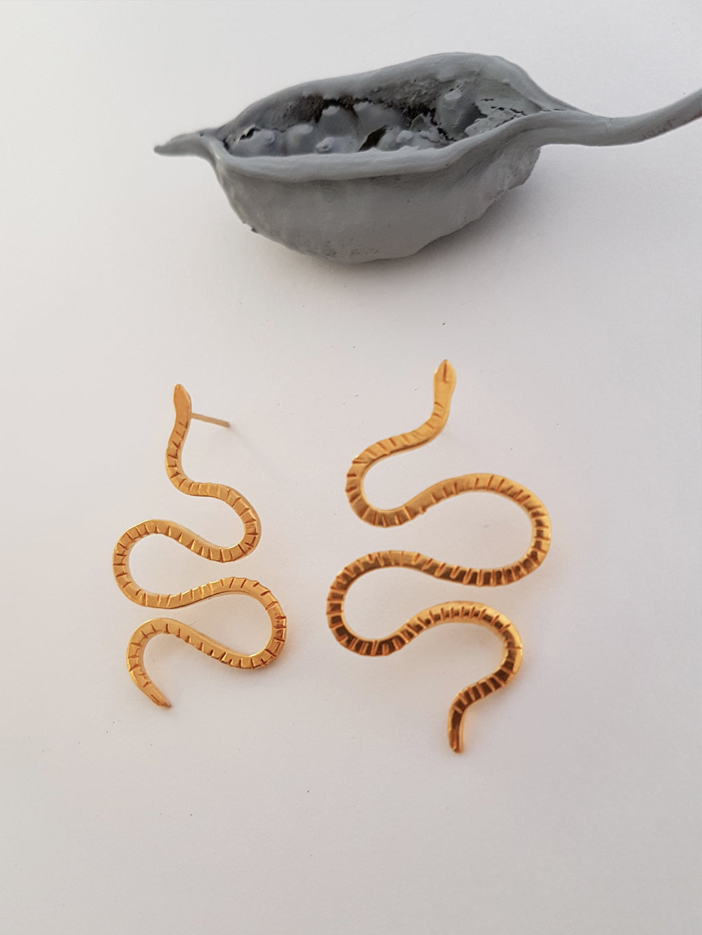CERASTES SMALL SNAKE EARRINGS