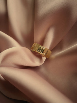 LUISA OPEN SIGNET RING
