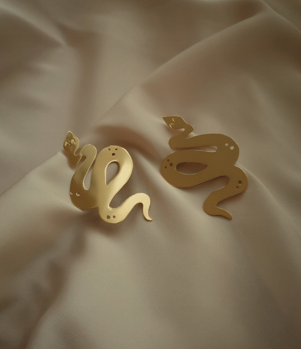 SNAKE STATEMENT EARRINGS