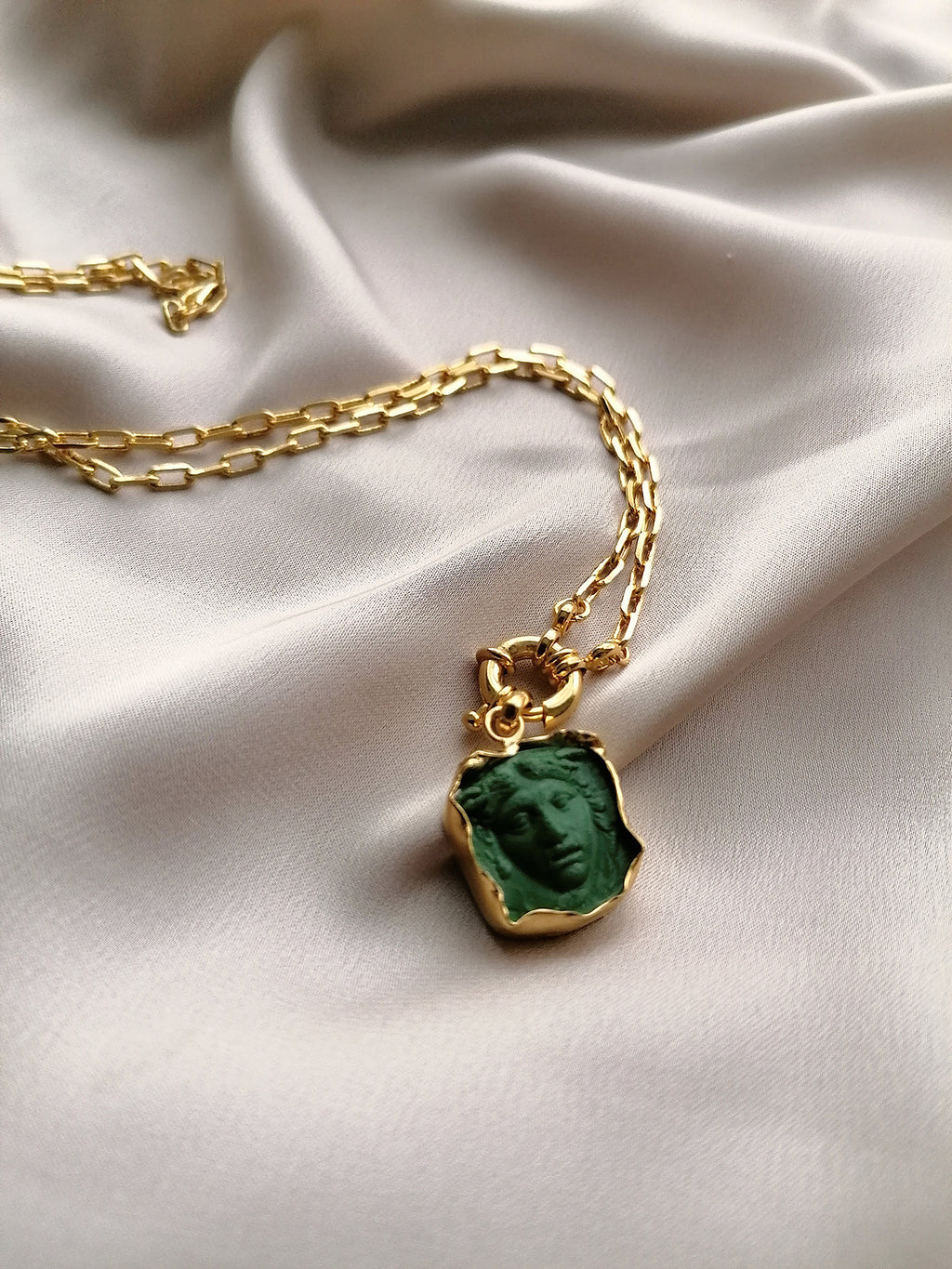 GREEN MEDUSA NECKLACE