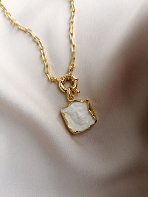 WHITE MEDUSA NECKLACE