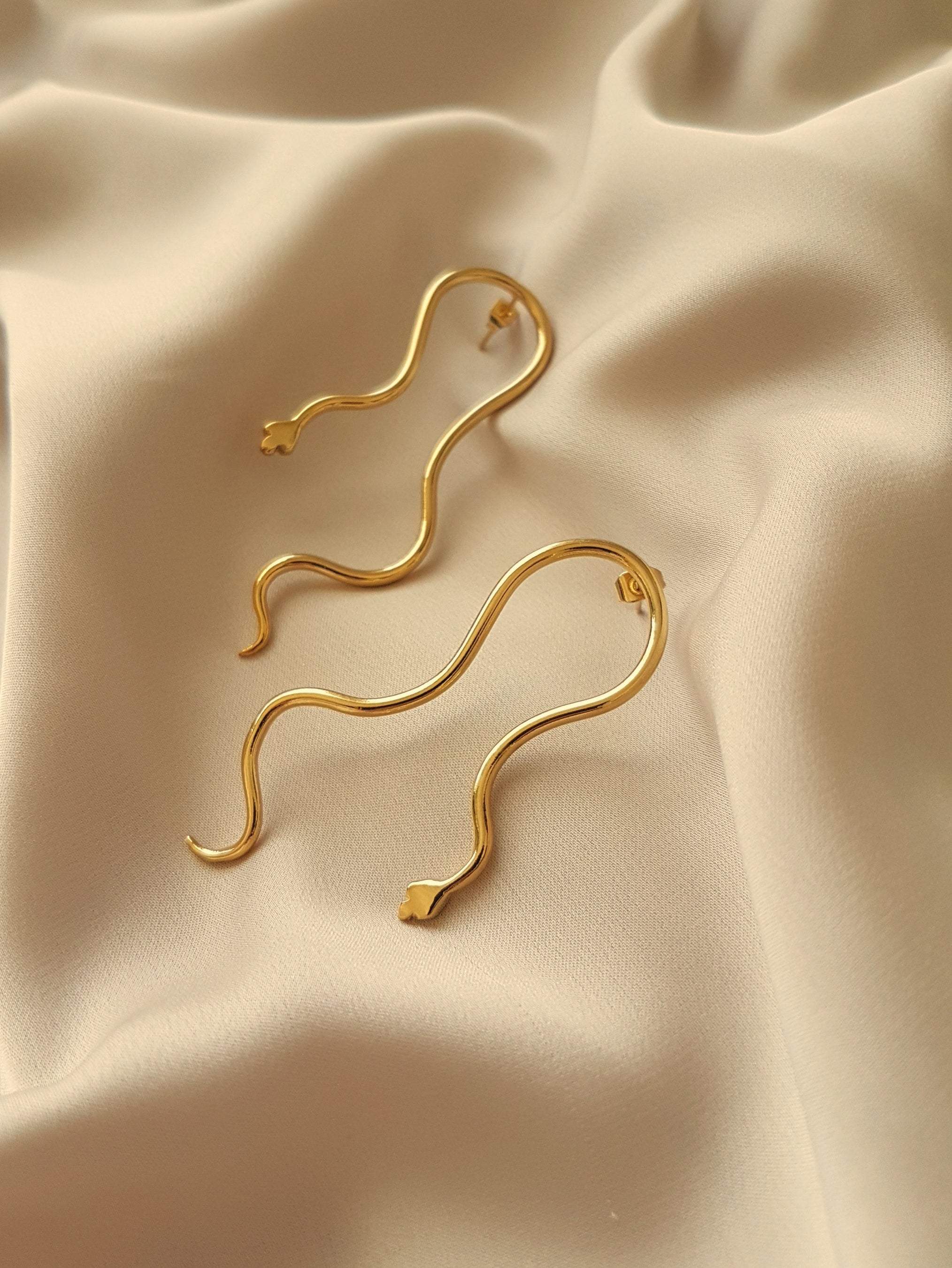 VIPER SNAKE EARRINGS