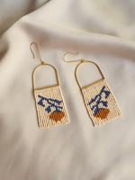 Orange Tree Beaded Earrings