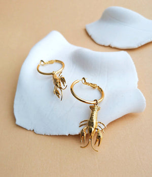 LOBSTERS HOOP EARRINGS