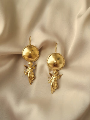 ROMAN INSPIRED QUERUB EARRINGS / UNIQUE PIECE