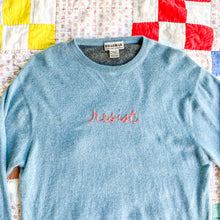 Load image into Gallery viewer, 'Resist' Embroidered 100% Cashmere Sweater for Spread The Vote