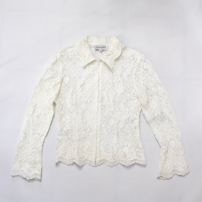 Victor Costa Lace Blouse
