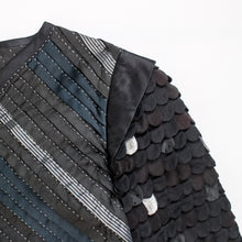 Load image into Gallery viewer, Quilted Black Silk Textile Art São Jacket