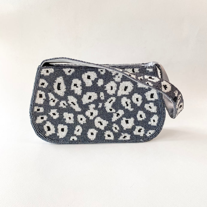 Beaded Animal Print Shoulder Bag