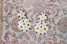 Load image into Gallery viewer, Enamel Polka Dot Earrings