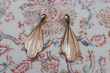 Load image into Gallery viewer, Gold & Peach Enamel Napier Earrings