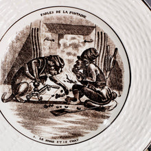 Load image into Gallery viewer, Fables de la Fontaine Digoin Serraguemins Faience Plate