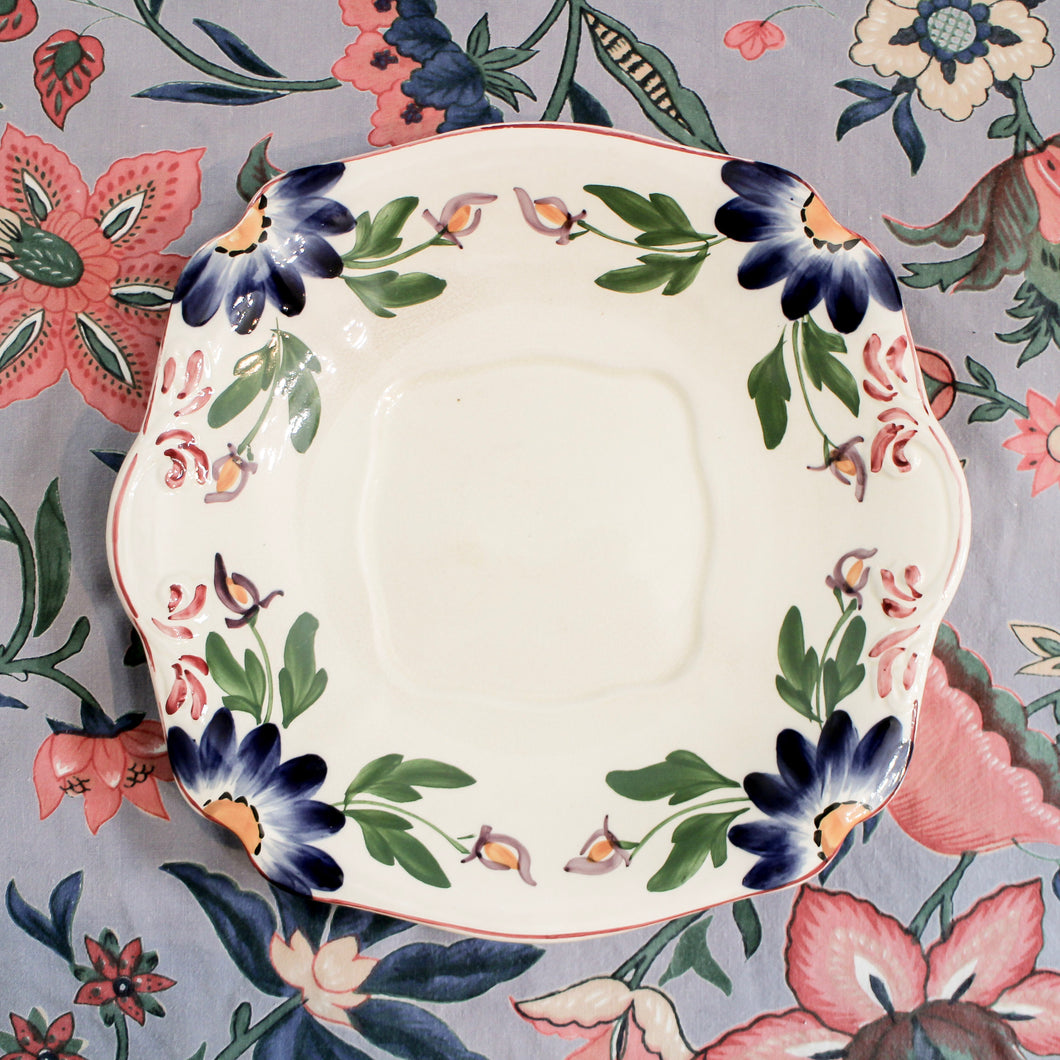 Floral Hand Painted Baker & Co. Dish