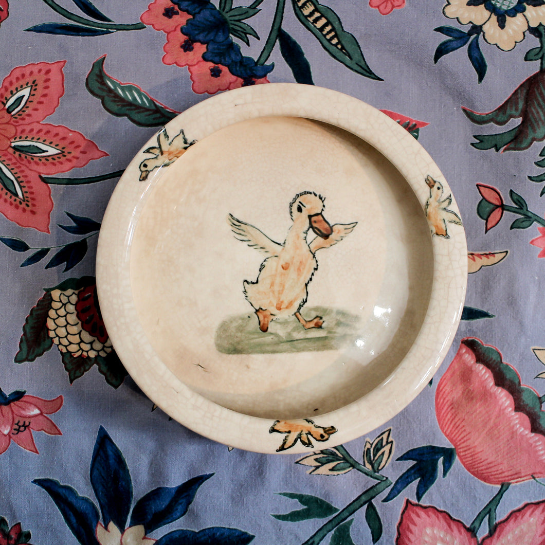Weller Ware Duck Child's Dish
