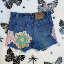 Load image into Gallery viewer, Quilt Patch Denim Shorts