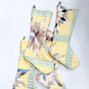 Antique Quilt Stocking