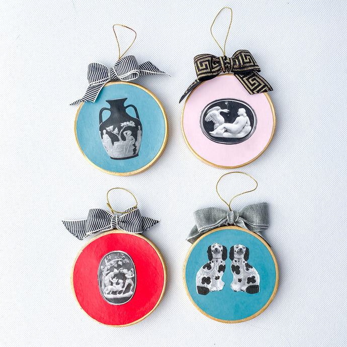 Decoupage Holiday Ornaments