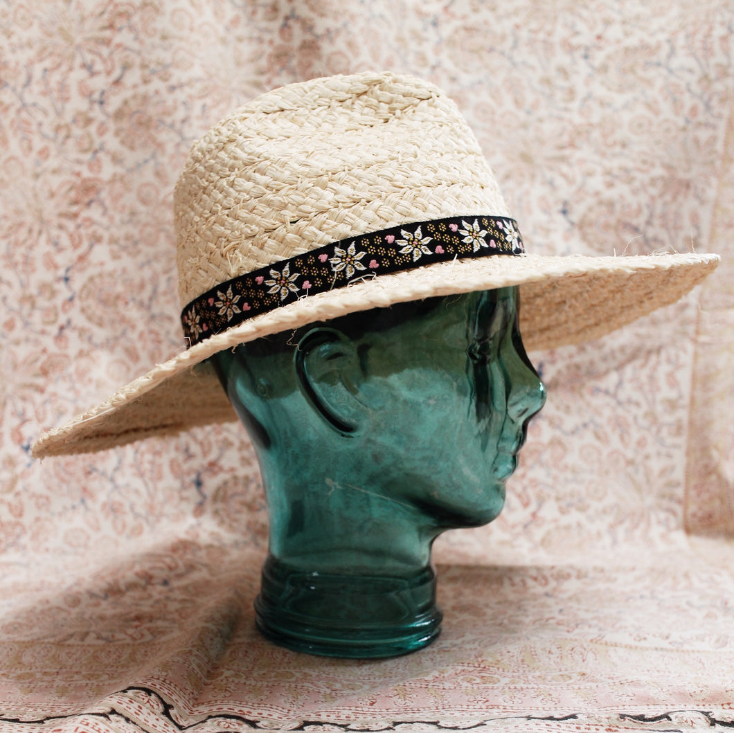 Vintage Jacquard Ribbon Hat Band