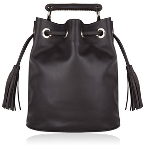 The Leather-Bit Bucket Bag