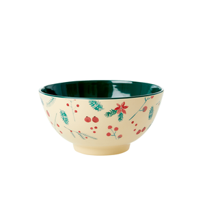 Rice Bowl Media in Melamina - Poinsettia Two Tone - Piccolaprofumeria