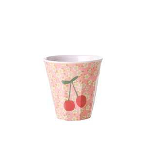 Rice Tazza Media in Melamina - Pink & Small Flowers Cherry