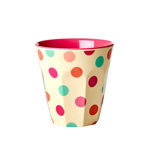 Rice Tazza Media in Melamina - Pois - Piccolaprofumeria