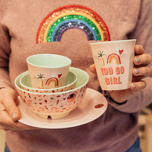 Rice Melamine Piatto Piano - Soft Pink