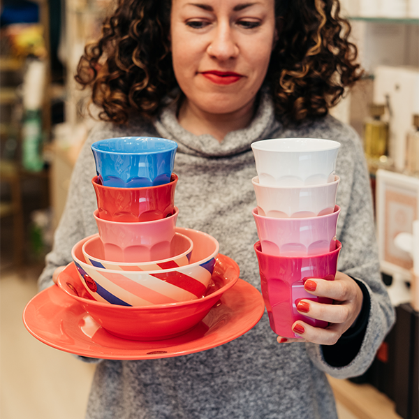 Rice Bowl Media in Melamina - Candy Stripes - Piccolaprofumeria