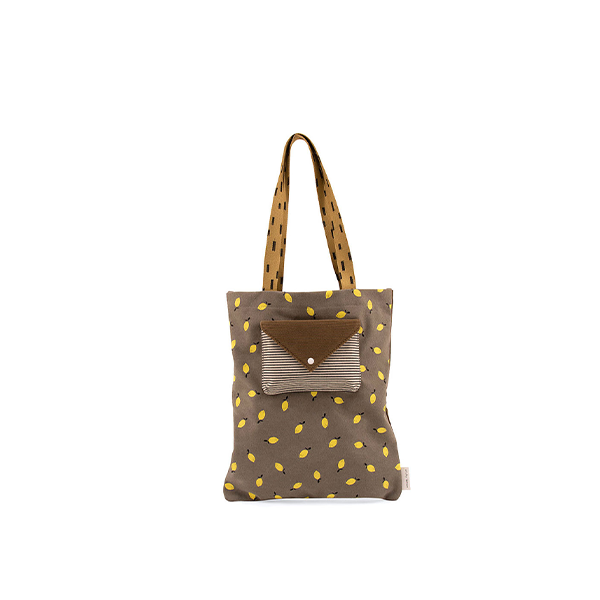 Sticky Lemon Tote Bag Sprinkles Corduroy - Pigeon Blue/ Woody Green/ Panache Gold - Piccolaprofumeria