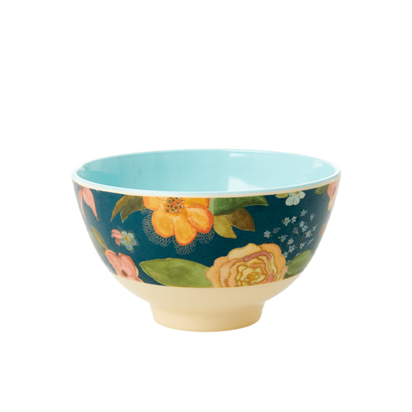 Rice Bowl Piccola in Melamina - Selma Fall Flower Two Tone